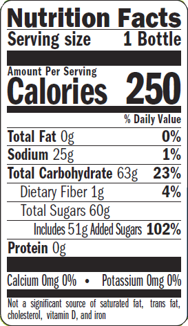 Nutritional Label - Grapefruit