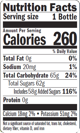 Nutritional Label - Pineapple Watermelon