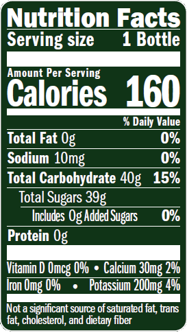 Nutrition Label - Premier Varietals